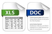 Iconos para las extensiones de archivo de oficina — Vector de stock