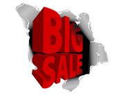 Big sale discount advertisement — Stock Vector