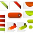 Red and green vector elements for web pages — 图库矢量图片 #6463494