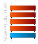 элементы современной красной навигации — Cтоковый вектор