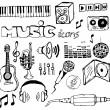 Set of music hand-drawn icons — Stock Vector #6495952