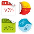 Fresh two colors sale labels - Stock Vector