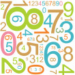 Background with colorful numbers — Stock Vector #6495968