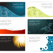 Collection of modern business card templates — Stock Vector