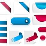 web ページに青と紫のベクトル要素 — ストックベクタ #6644537