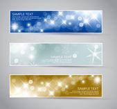 Uppsättning vektor jul - nyår banners — Stockvektor