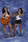 Girls singers — Stock Photo