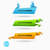 Origami banners — Stock Vector
