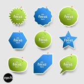 Sticker focus — Stock Vector