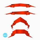 Origami ribbons — Stock Vector