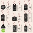 Hand drawn tags — Stock Vector