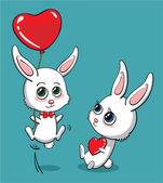 Love bunny — Stock Vector