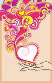 Hand love — Stock Vector