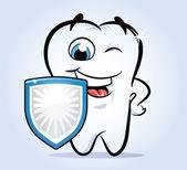 Tooth shield safeguard — Stock Vector