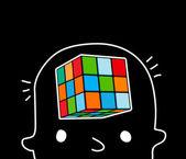 Jongen hersenen — Stockvector