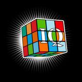 Multicolor cube — Stock Vector