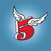 Logo number five — Stock Vector