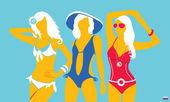 Summer swimsuit light-blue — Stock Vector