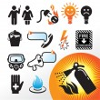 Royalty-Free Stock Vector Image: Symbol extinguisher