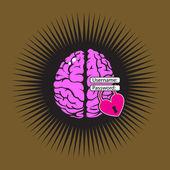 Brain lock love — Stock Vector