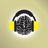 Brain noise — Stock Vector