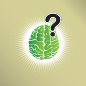 Brain question — Stock Vector