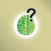 Brain question — Stock Vector