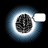 Symbol brain — Stock Vector