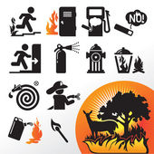 Symbol fire — Stock Vector