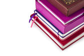 A stack of books and notebooks — Stock Photo