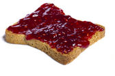 Toasted bread with jam — Stock Photo
