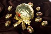 Sweet chocolate eggs — Stock Photo