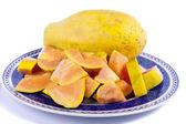 Papaya fruit sliced — Stock Photo