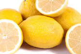 Lemons on white — Stock Photo