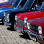 Classic mini cars — Stock Photo
