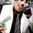 White suit gangster — Stock Photo #6043594