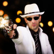 Постер, плакат: White suit gangster firing a gun