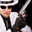 White suit gangster - Stock Photo