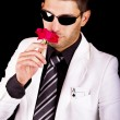 White suit gangster — Stock Photo #6044337