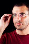 Male man with glasses — Stock Photo
