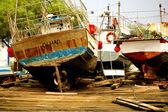 Традиционные рыбацкие лодки — Стоковое фото