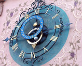 Decorative astronomical clock — Stock Photo