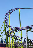 Roller coaster tracks — Stock Photo