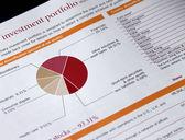Investment portfolio — Stock Photo