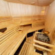 Wooden sauna — Stock Photo
