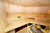 Wooden sauna — Stock Photo