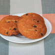The three cookies for breakfast — Stock Photo
