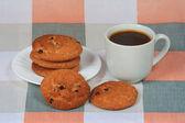 šálek kávy s cookies — Stock fotografie
