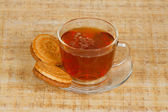 The cup of tea and two cookies — Stock Photo
