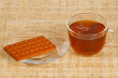 šálek čaje a cookie — Stock fotografie